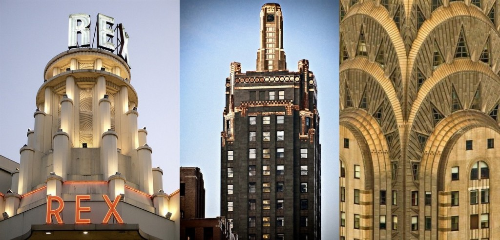 Grand Rex Paris, Carbide & Carbon Building à Chicago, Chrysler Building New York